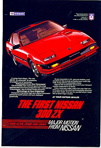 Nissan 300 Zx Automobile Ad - 1983