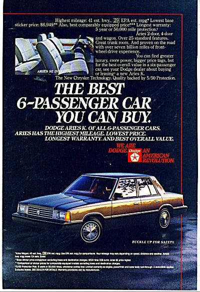 Dodge ARies K automobile ad (Image1)