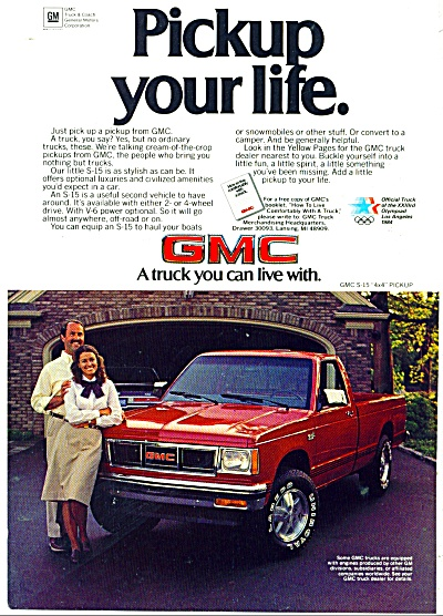 1983 GMC trucks ad - S-15 PICKUP TRUCK (Image1)