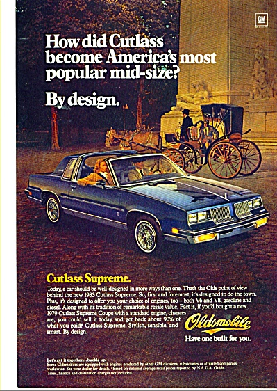 Oldsmobile Cutless Supreme - 1983 ad (Image1)