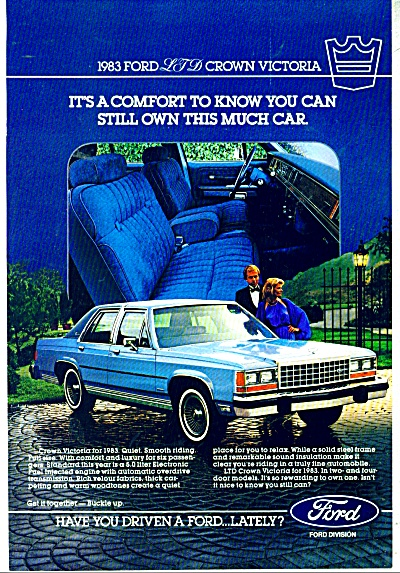 Ford Crown Victoria LTD for 1983 ad (Image1)