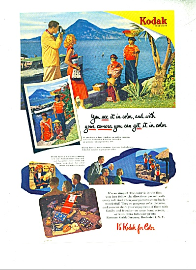 Kodak color film ad - 1952 (Image1)