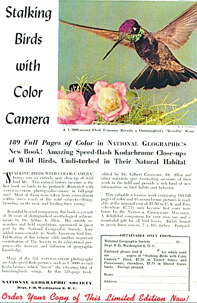 National Geographic Society ad - 1952 (Image1)