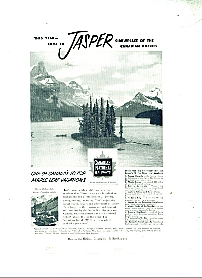Canadian National railways ad - 1952 (Image1)