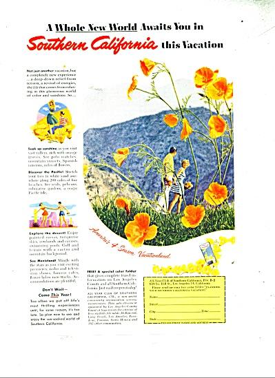 Southern California vacation ad - 1952 (Image1)