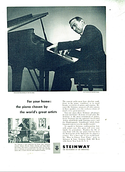 1952 STEINWAY Piano AD - ALEXANDER BRAILOWSKY (Image1)