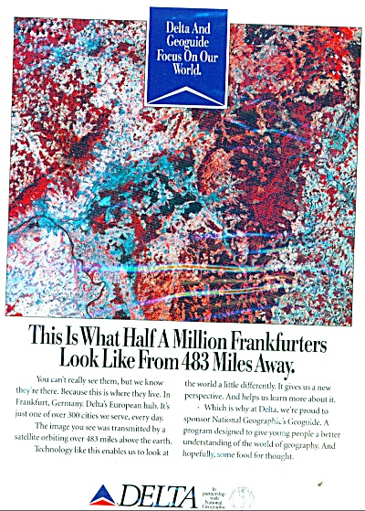 1992 DELTA AIRLINES FRANFURTERS Germany AD (Image1)
