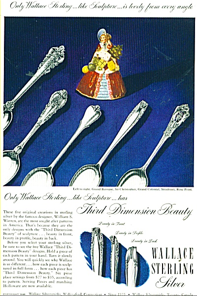 1949 Wallce Sterling SILVER AD Sculpture (Image1)
