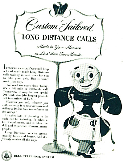 Bell Telehone System Ad - 1947