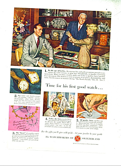 The Watchmakers of Switzerland ad - 1947 (Image1)