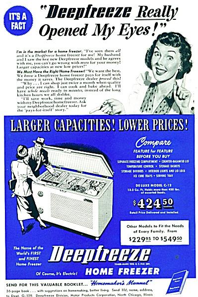 Deepfreeze home Freezxer ad - 1947 (Image1)
