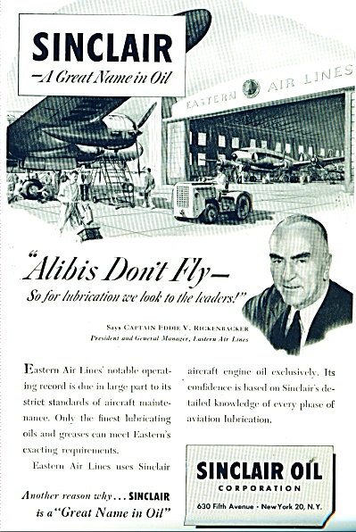 Sinclair oil corporation - EDDIE RICKENBACKER (Image1)