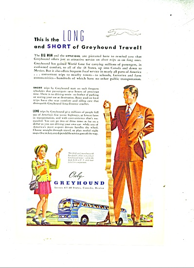 1947 Greyhound Bus Lines Father Daughter Tick