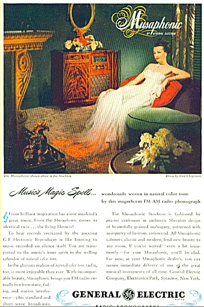 General Electric Radio-phonographs Ad 1947