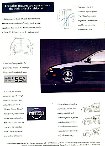 Nissan automobile ad 1992 (Image1)