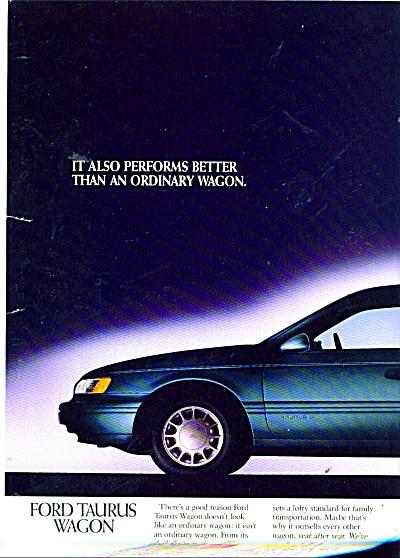 Ford Taurus wagon  ad 1992 (Image1)