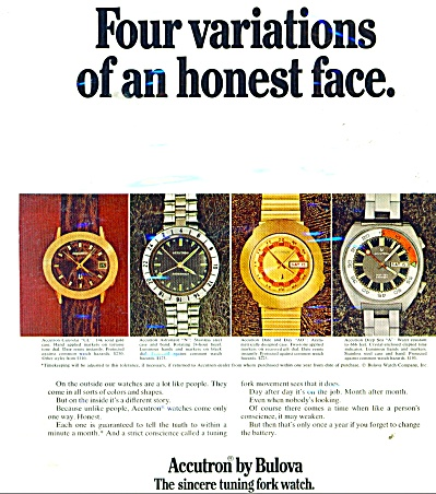 Bulova watches ad - 1971 (Image1)