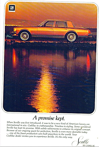 Cadillac Seville Auto For 1978 Ad