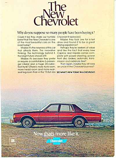 The New Chevrolet ad (Image1)