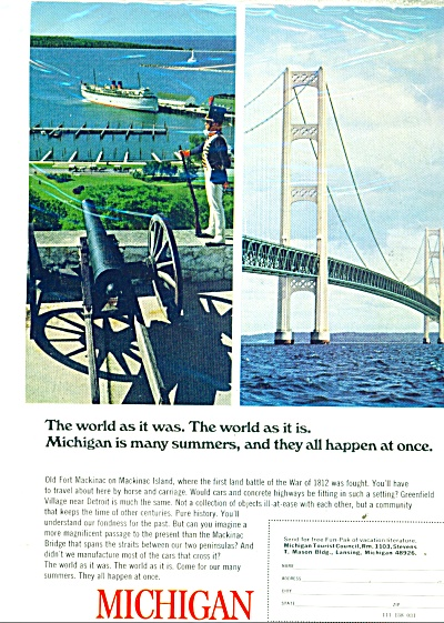 State of Michigan travel ad 1968 (Image1)