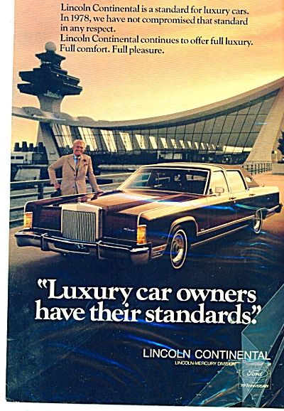 Lincoln Continental; automobile ad 1978 (Image1)