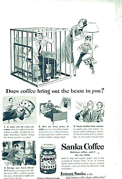 Sanka Coffee ad - 1952 GILBERT BUNDY ART (Image1)