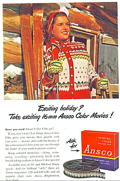 Ansco color movies film ad - 1947 (Image1)