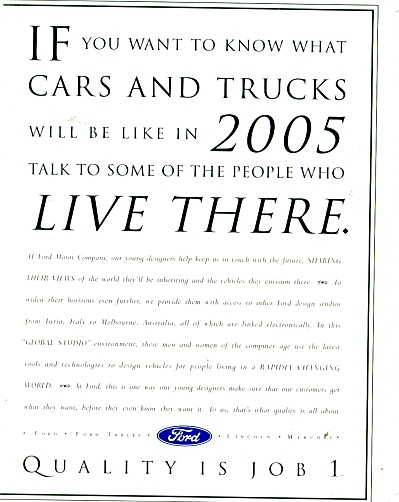 Ford Cars andTrucks ad - 1995 (Image1)