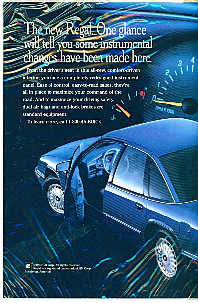 Buick Regal automobile ad  1995 (Image1)