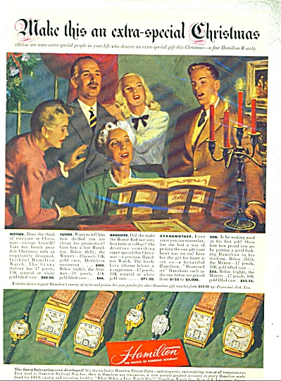 Hamilton watches ad - 1947 (Image1)
