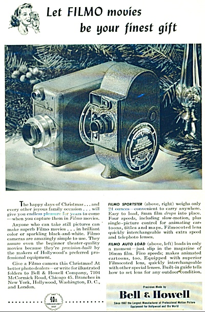1928 Bell & Howell Home Movie Filmo Camera AD (Image1)