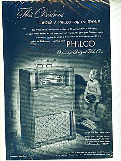 1947 Philco Model 1264 Radio Ad