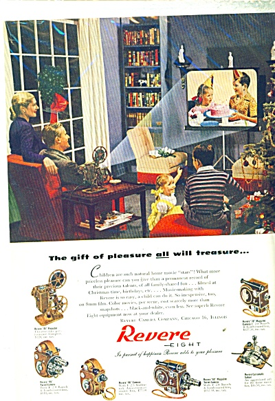 1947 Revere eight cameras and projector ad (Image1)