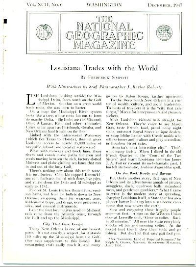 1947 34 Pg Louisiana Trade J. Baylor Roberts
