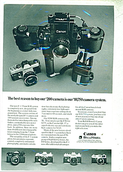 1971 Canon (Bell & Howell) Amera Ad 1971