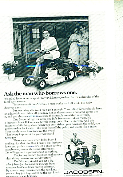Jacobsen Ring mowers ad 1971 (Image1)