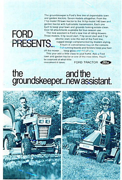 Ford Tractor Ad - 1971