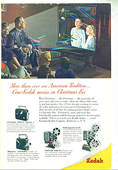 Kodak Camera, Projectors Ad 1947