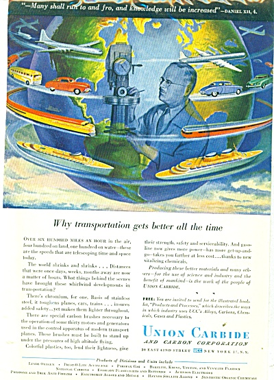 Union Carbide Corporation ad - 1947 (Image1)