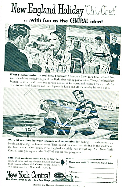 1952 New York Central Railroad AD (Image1)