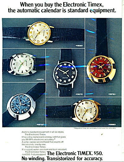 Timex watches ad 1971 (Image1)