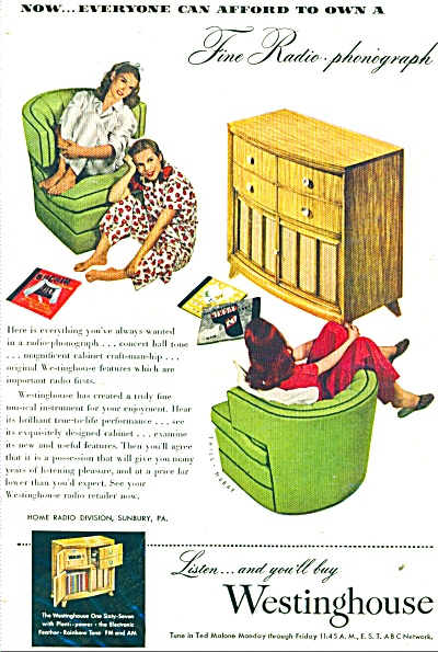 1947 Westinghouse Phonograph ad THIL-MURAY (Image1)