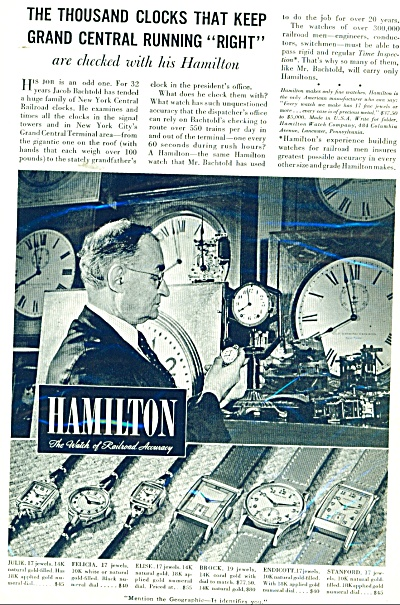 Hamilton clocks and watches ad 1940 (Image1)
