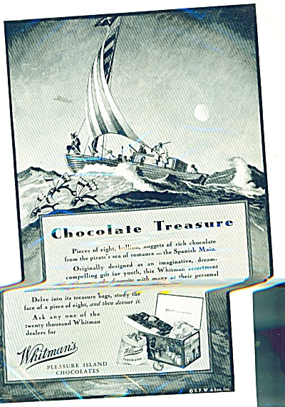 1931 Whitman's Chocolates ad 1931 HURD ART (Image1)