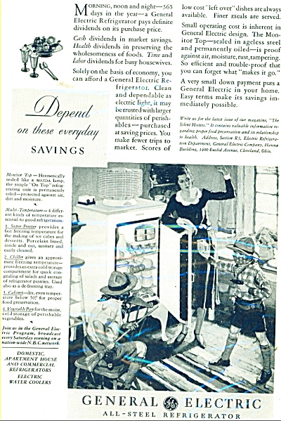 1931 COOL General Electric all steel refrigerator ad (Image1)