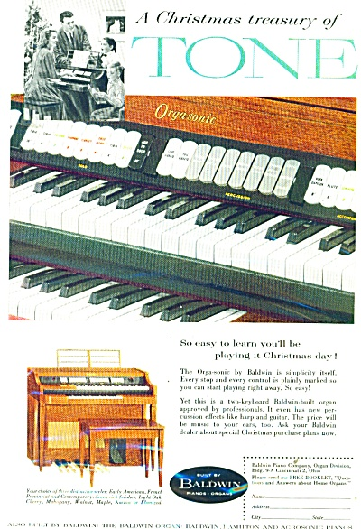 Baldwin Pianos and organs ad  1958 (Image1)