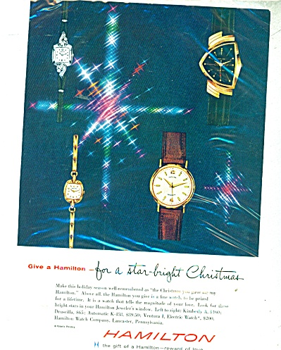 Hamilton watches ad - 1958 (Image1)
