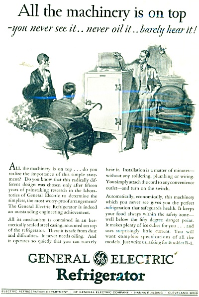 1929 General Electric refrigerator AD BENSING (Image1)