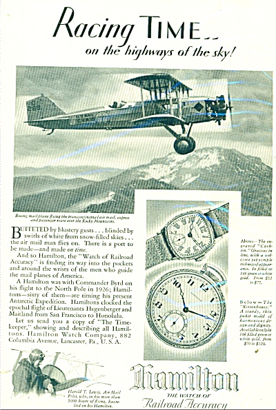 Hamilton watches ad - 1929 (Image1)