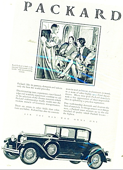1929 Packard Motor Car Ad Awesome Artwork